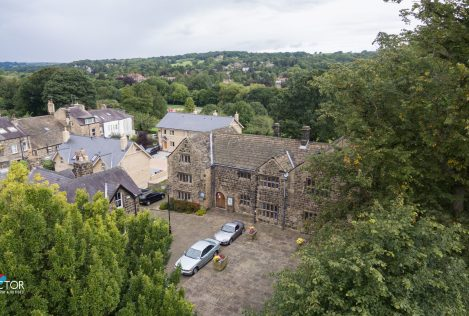 Aerial photo of Manor House to NW