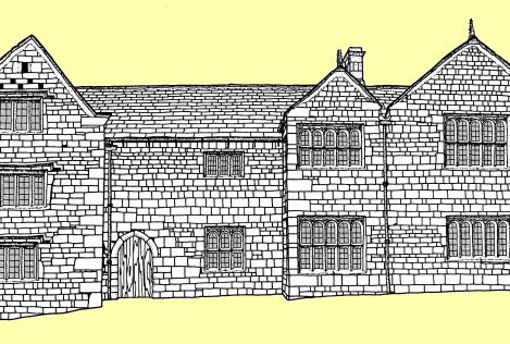 drawing of the Ilkley manor house